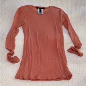 BCBG MaxAzria stretchy, fitted long sleeve top